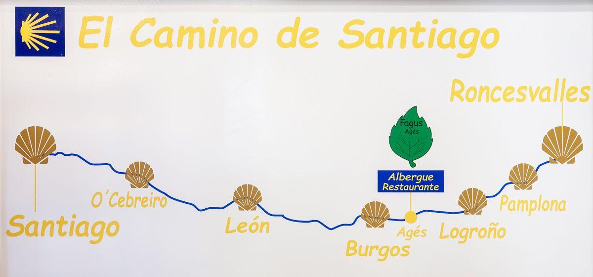Restaurante en Áges Peregrinos Camino de Santiago